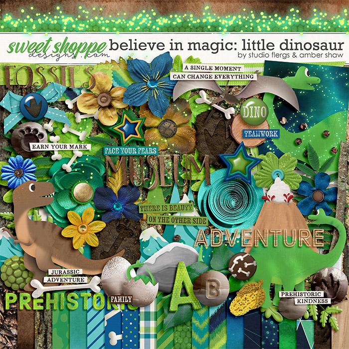Believe in Magic Little Dinosaur by Amber Shaw & Studio Flergs