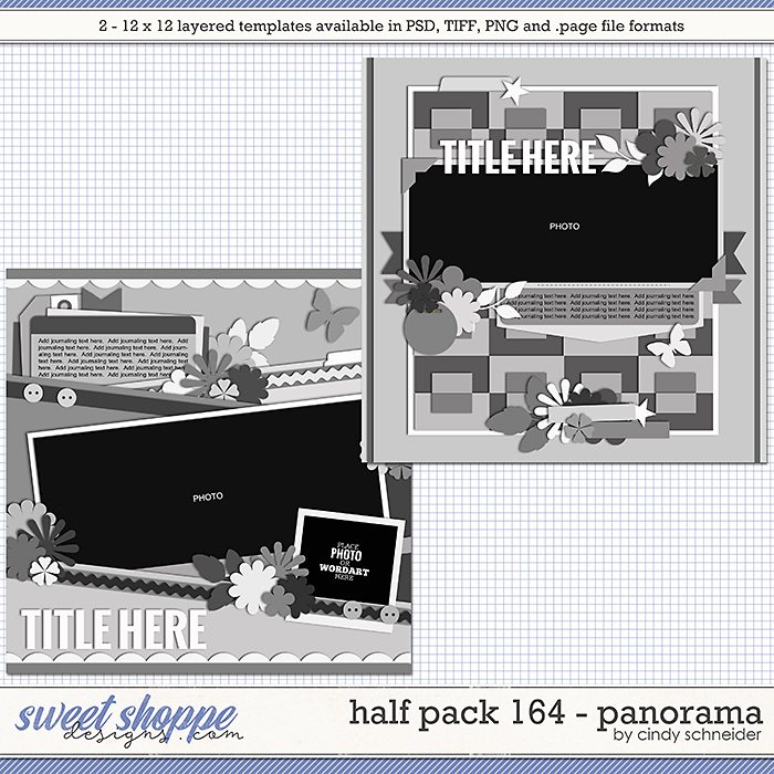 Cindy's Layered Templates - Half Pack 164: Panorama by Cindy Schneider