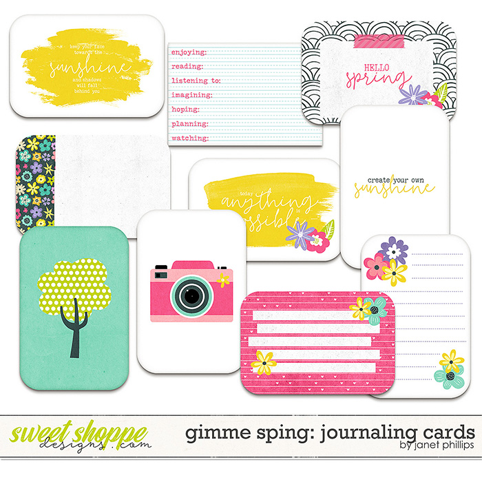 Gimme Spring Journaling Cards by Janet Phillips