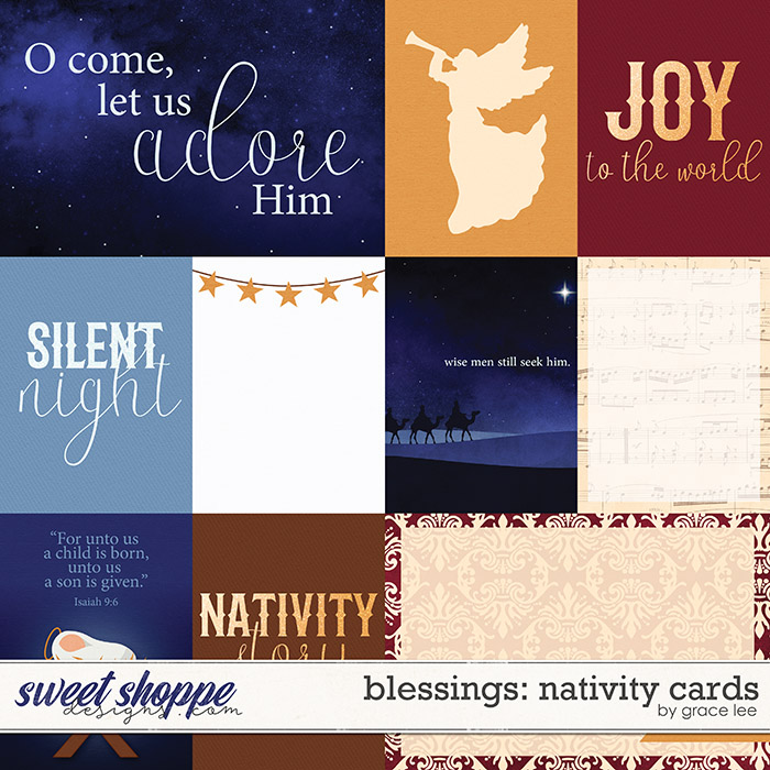 Blessings: Nativity Cards by Grace Lee