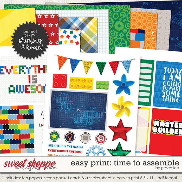 Easy Print: Time to Assemble by Grace Lee