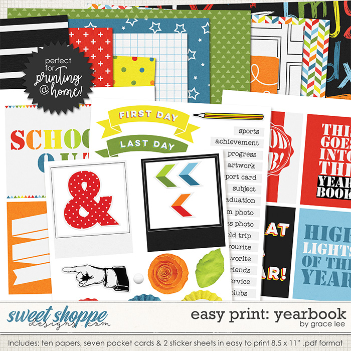 Easy Print: Yearbook by Grace Lee