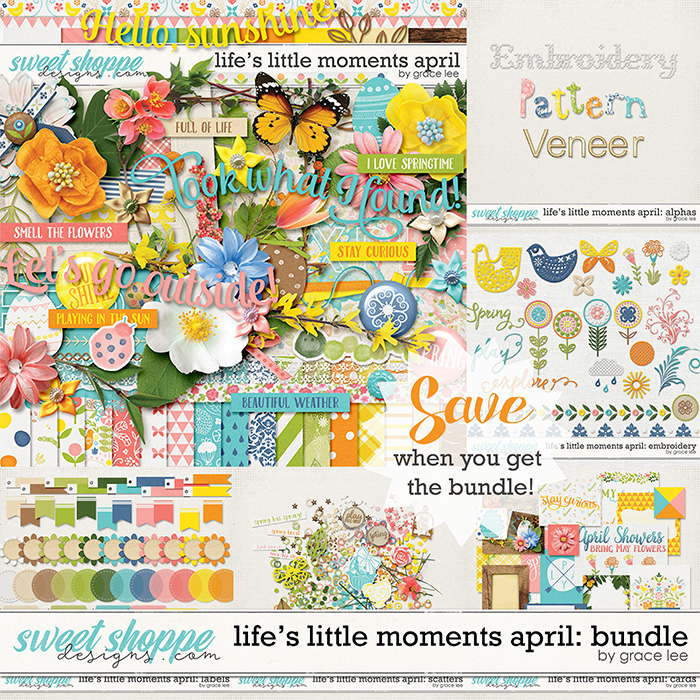 Life's Little Moments April: Bundle by Grace Lee
