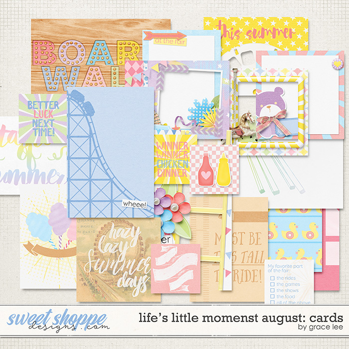 Life's Little Moments August: Cards by Grace Lee
