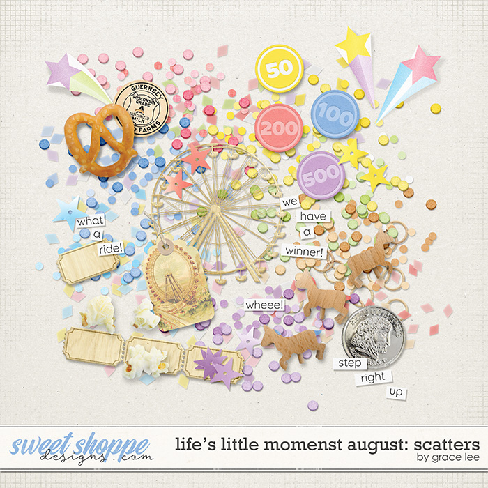 Life's Little Moments August: Scatters by Grace Lee
