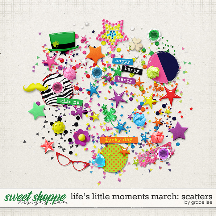 Life's Little Moments March Scatters by Grace Lee