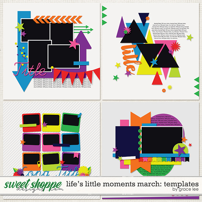 Life's Little Moments March Templates by Grace Lee