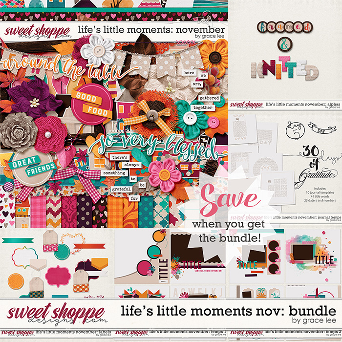 Life's Little Moments November: Bundle by Grace Lee