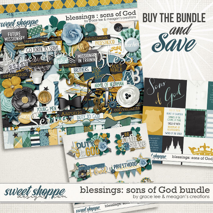 Blessings: Sons of God Bundle by Grace Lee and Meagan's Creations
