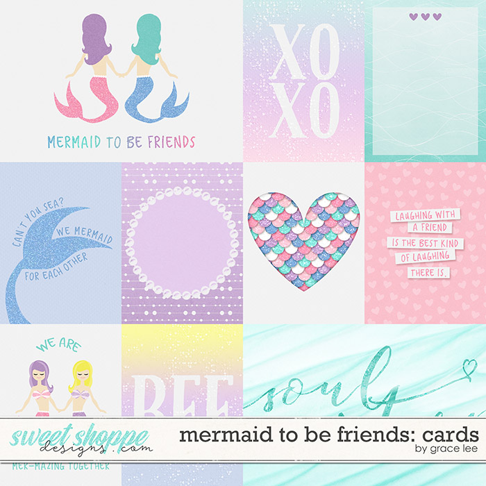 Mermaid To Be Friends: Cards by Grace Lee