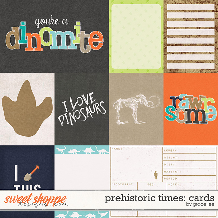 Prehistoric Times: Cards by Grace Lee