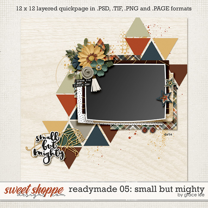Readymade Template 05: Small But Mighty by Grace Lee