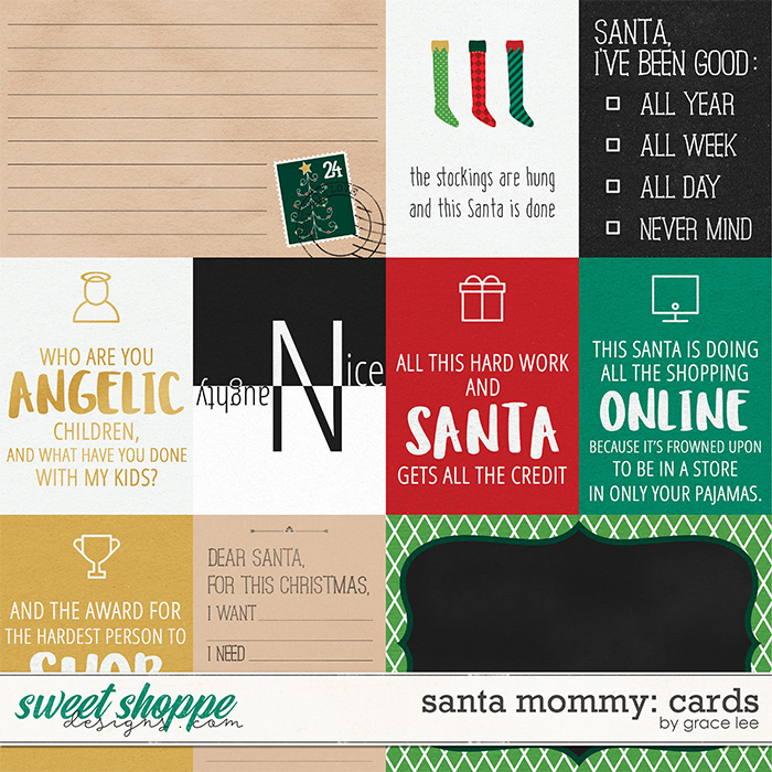 Santa Mommy: Cards by Grace Lee