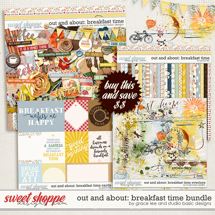 Out and About: Breakfast Time Bundle by Grace Lee and Studio Basic Designs