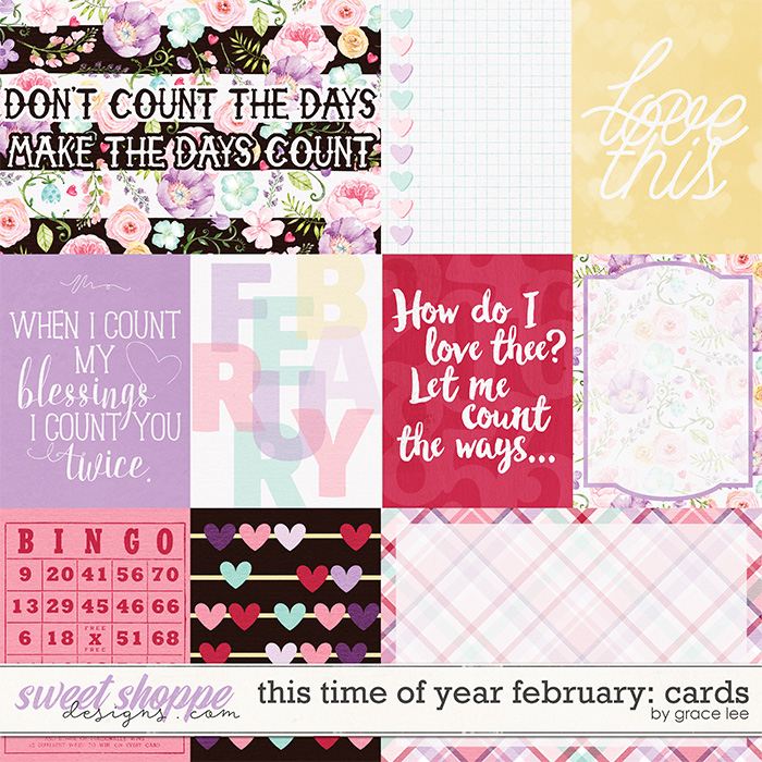 This Time of Year February Cards by Grace Lee