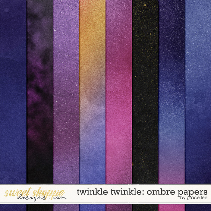 Twinkle Twinkle: Ombre Papers by Grace Lee