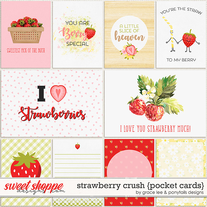 Strawberry Crush: Cards by Grace Lee and Ponytails Designs