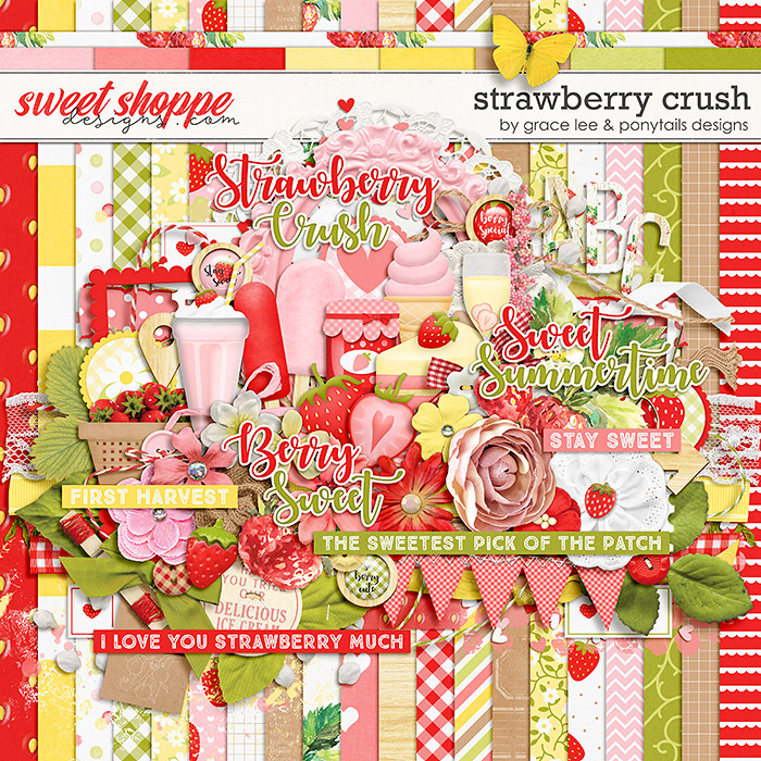 Strawberry Crush by Grace Lee and Ponytails Designs