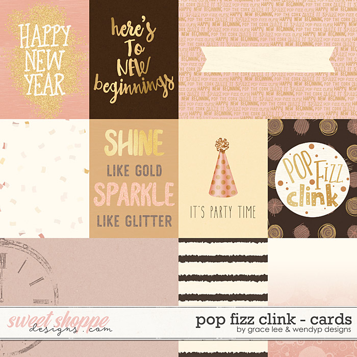 Pop Fizz Clink: Cards by Grace Lee and WendyP Designs
