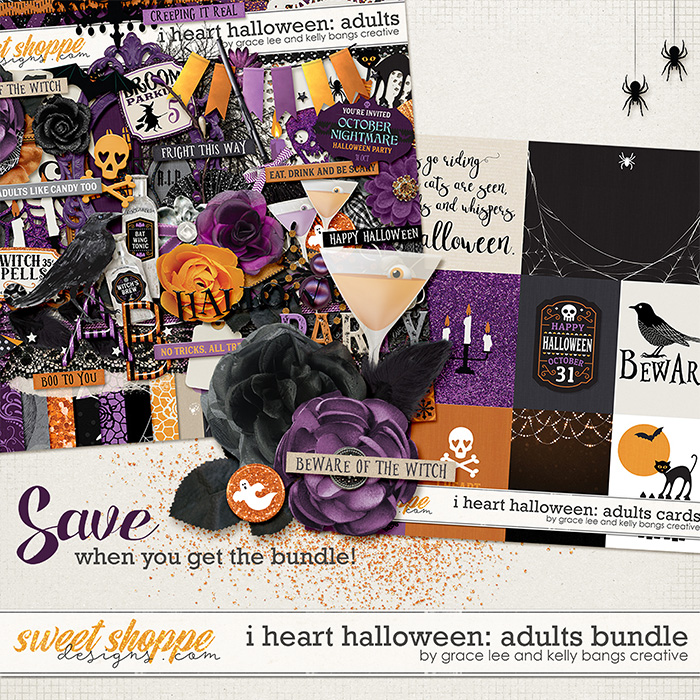 I Heart Halloween: Adults Bundle by Grace Lee and Kelly Bangs Creative