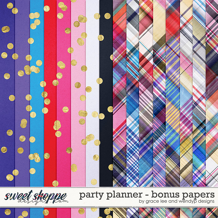 Party Planner: Bonus Papers by Grace Lee and WendyP Designs
