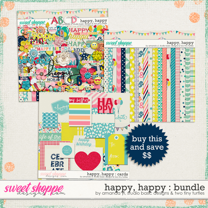 Happy, Happy Bundle by Amanda Yi, Studio Basic and Two Tiny Turtles