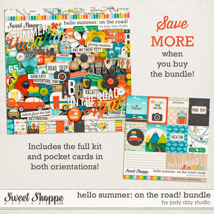 Hello Summer: On The Road! Bundle by Jady Day Studio