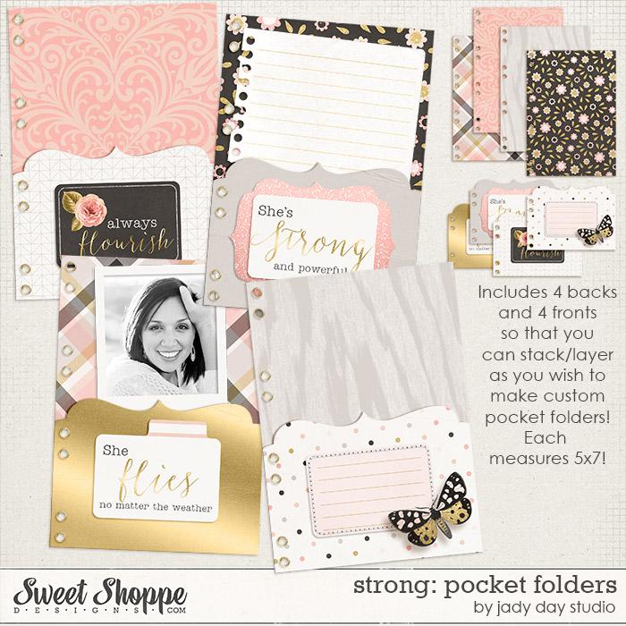Strong: Pocket Folders by Jady Day Studio