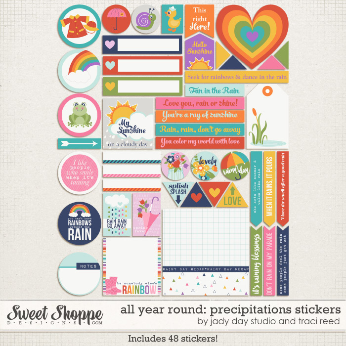 All Year Round: Precipitations Stickers by Traci Reed and Jady Day Studio