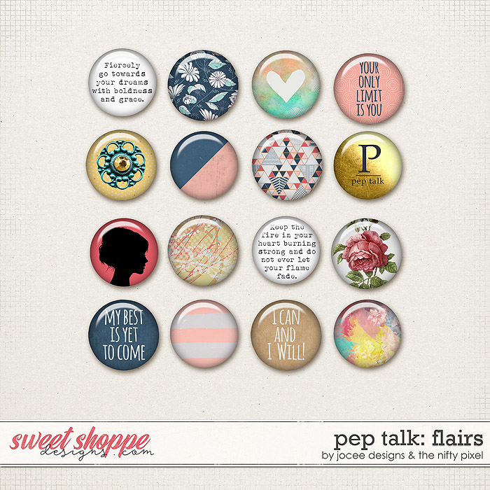 Pep Talk Flairs by JoCee Designs and The Nifty Pixel