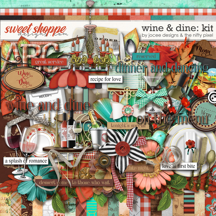 Wine and Dine by JoCee Designs and The Nifty Pixel