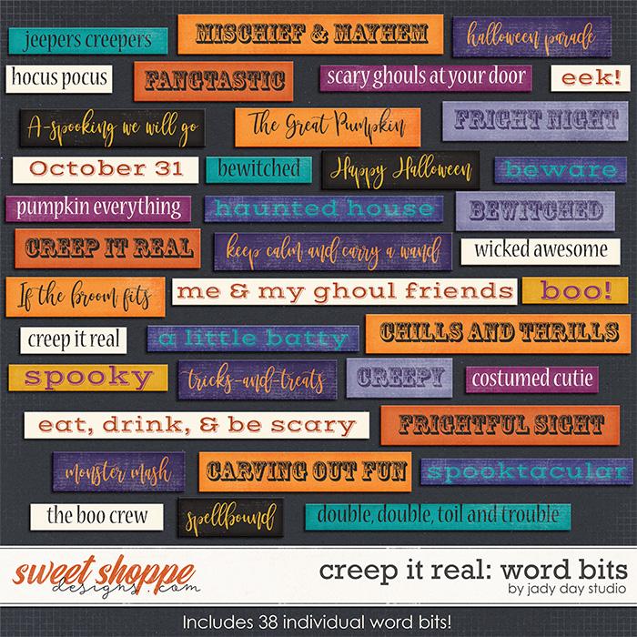 Creep It Real Wordbits by Jady Day Studio