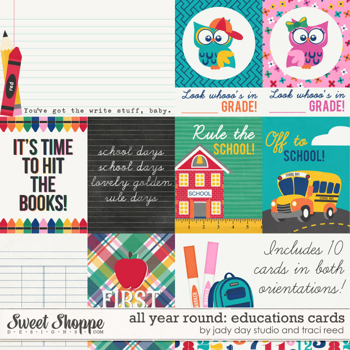 All Year Round: Education Cards by Traci Reed and Jady Day Studio
