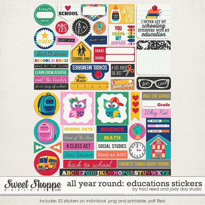 All Year Round: Educations Stickers by Traci Reed and Jady Day Studio