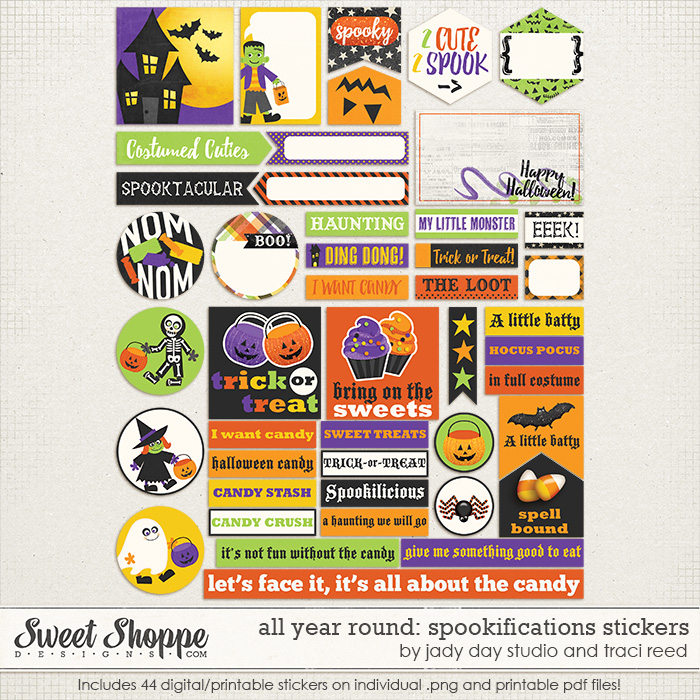 All Year Round: Spookifications Stickers by Traci Reed and Jady Day Studio