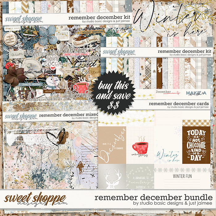 Remember December Bundle by Studio Basic and Just Jaimee