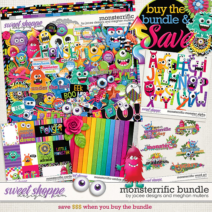 Monsterrific-Bundle by JoCee Designs & Meghan Mullens