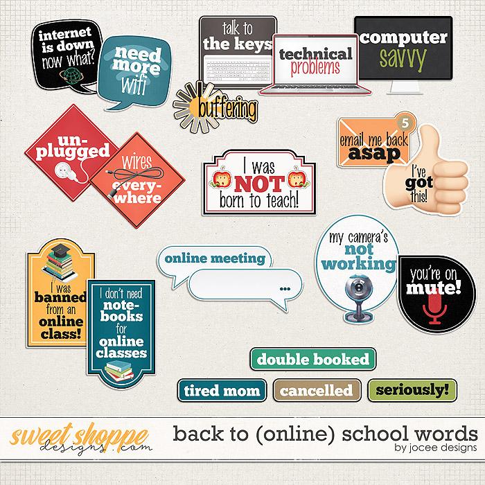 Back to (online) School Words by JoCee Designs