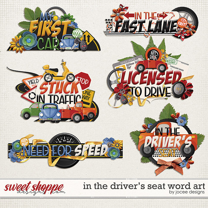 In the Drivers Seat Word Art by JoCee Designs