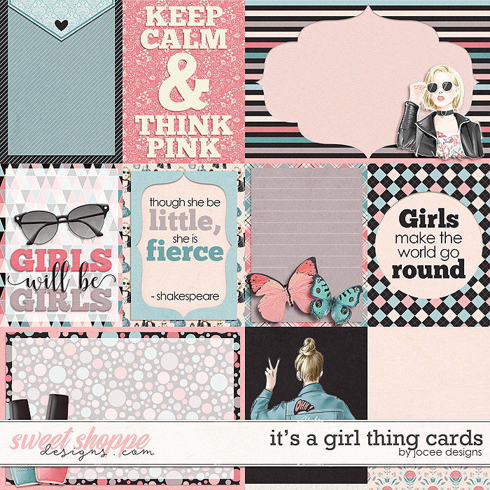 Its a Girl Thing Cards by JoCee Designs