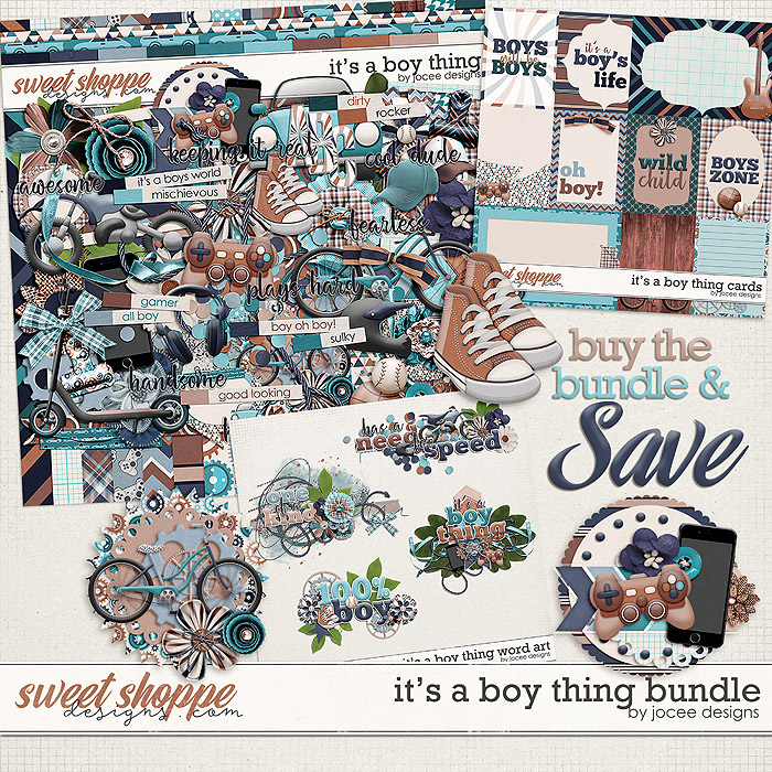 Its a Boy Thing Bundle by JoCee