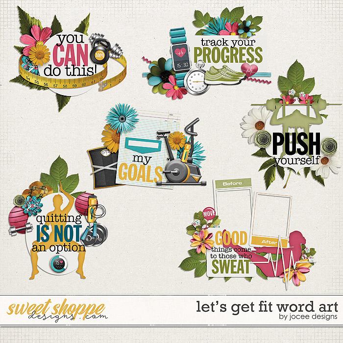 Let's Get Fit Word Art by JoCee Designs