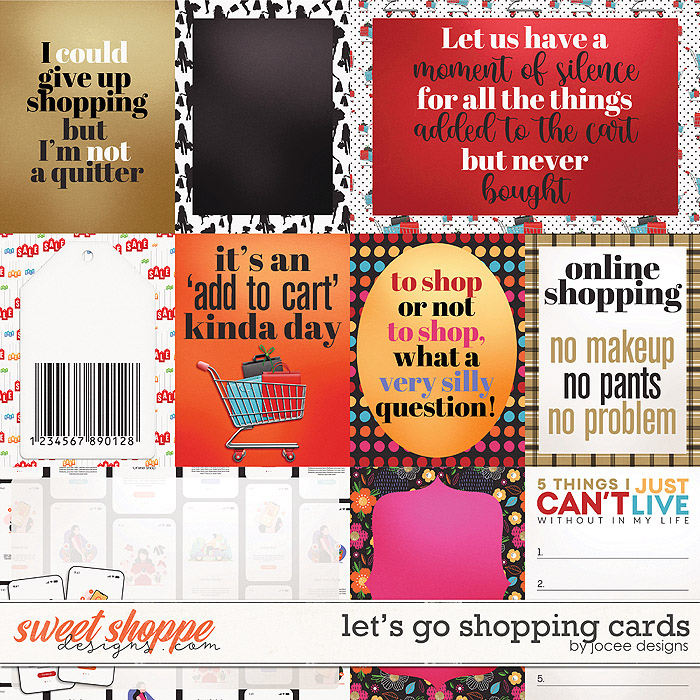 Lets Go Shopping Cards by JoCee Designs