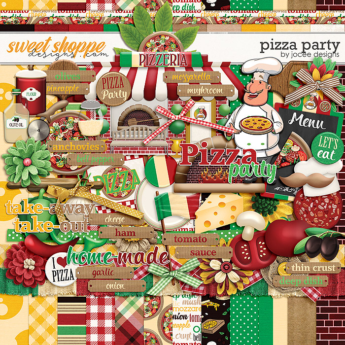 Pizza Party by JoCee Designs