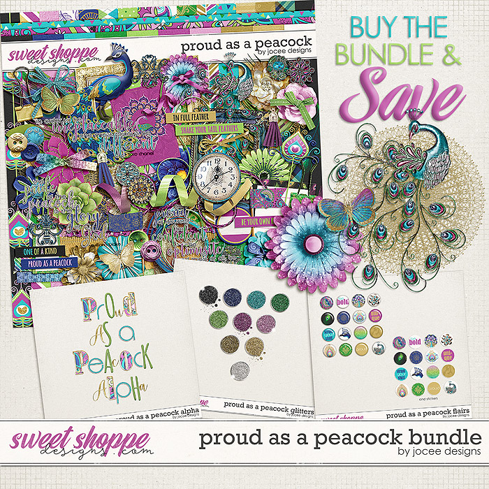 Proud as A Peacock Bundle by JoCee Designs