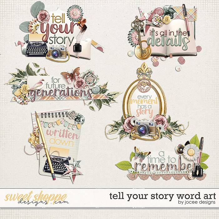 Tell Your Story Word Art by JoCee Designs