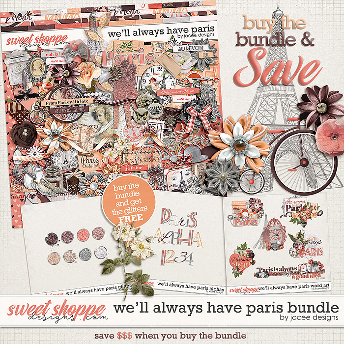 We'll Always Have Paris Bundle with FWP Glitters by JoCee Designs