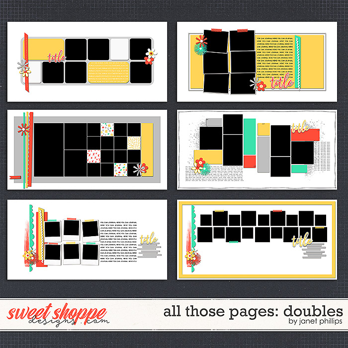 ALL THOSE PAGES: DOUBLES by Janet Phillips