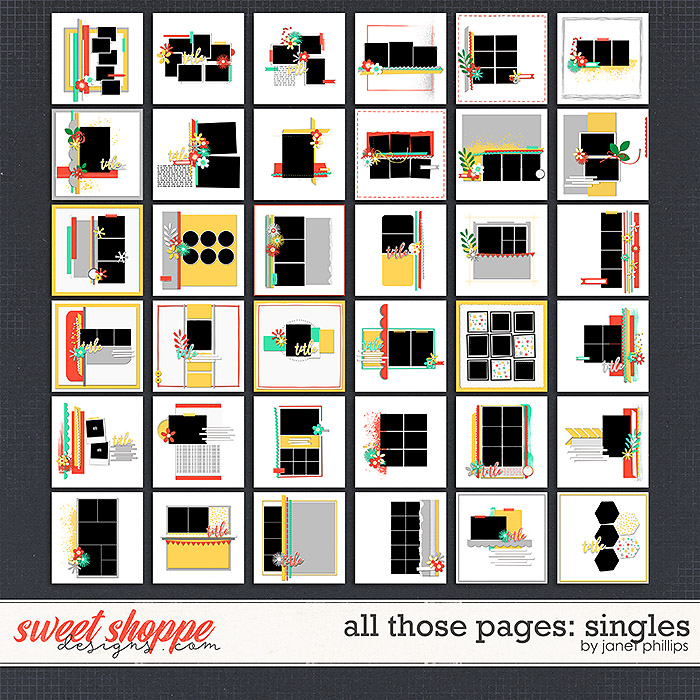 ALL THOSE PAGES: SINGLES by Janet Phillips