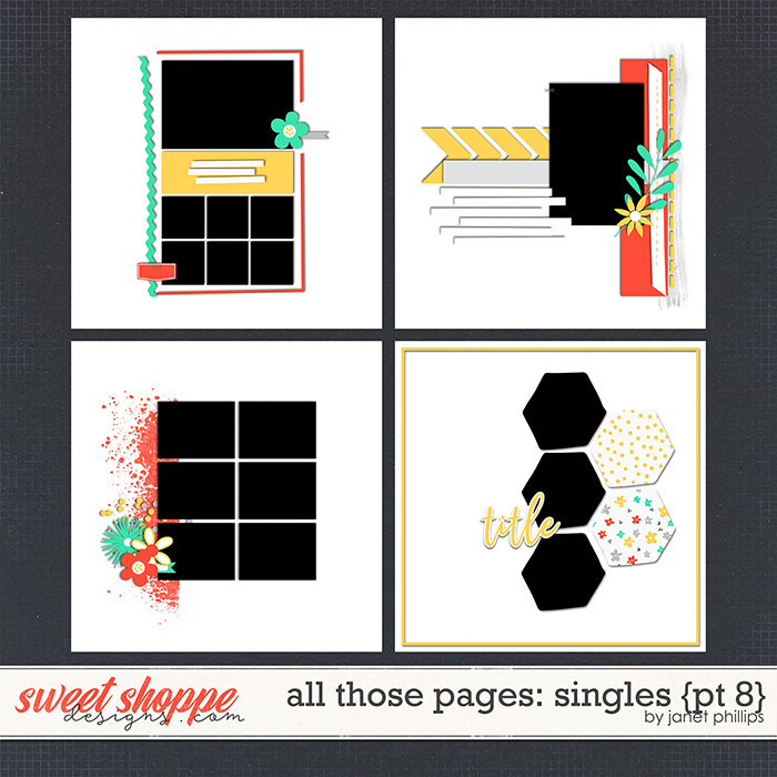 ALL THOSE PAGES: SINGLES {part 8}  by Janet Phillips